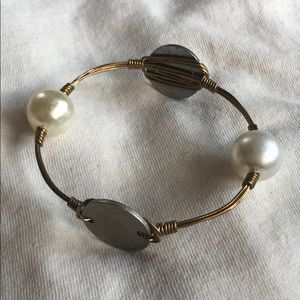 Bourbon and Bowties Coin and Pearls Bracelet